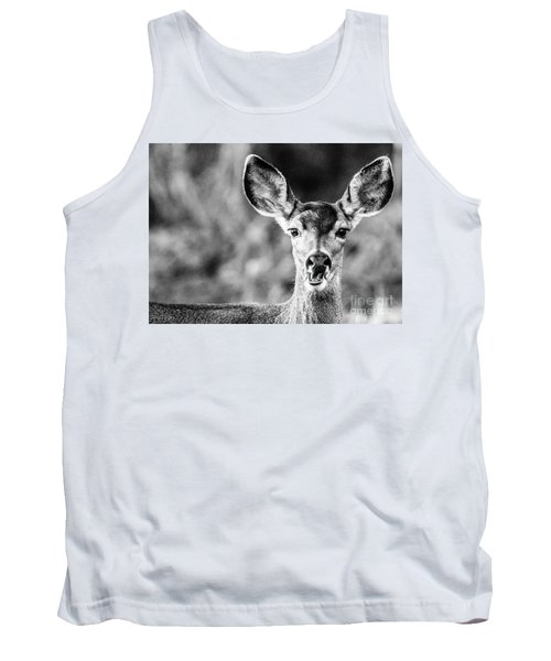 Oh, Deer, Black And White Tank Top