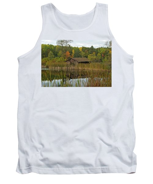 Old Bait Shop On Twin Lake_9626 Tank Top by Michael Peychich