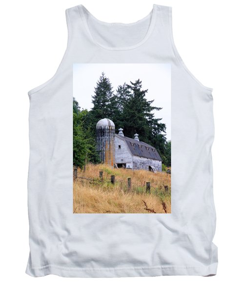Old Barn In Field Tank Top by Athena Mckinzie