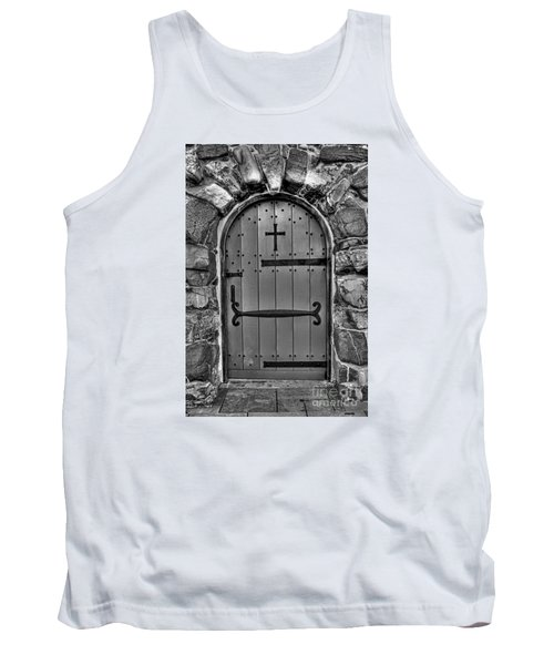 Tank Top featuring the photograph Old Church Door by Alana Ranney