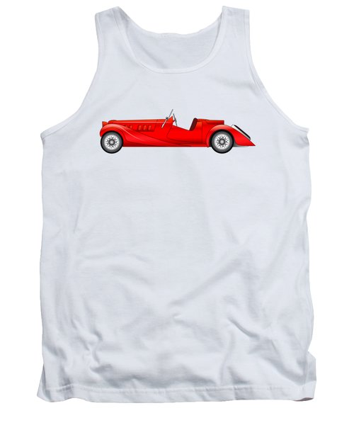 Tank Top featuring the digital art Old Classic Race Car by Michal Boubin