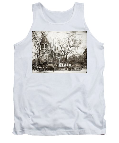 Old Courthouse Public Square Wilkes Barre Pa Late 1800s Tank Top