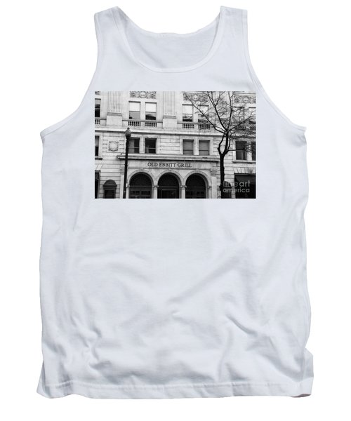Old Ebbitt Grill Facade Black And White Tank Top
