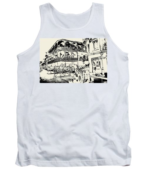Old French Quarter New Orleans - Ink Tank Top