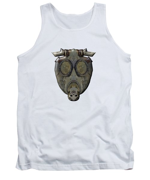 Old Gas Mask Tank Top by Michal Boubin