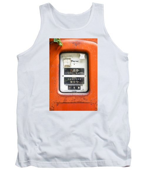 Tank Top featuring the photograph Old Gas Pump by Tom Singleton