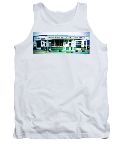 Old Gas Station Green Tile Tank Top