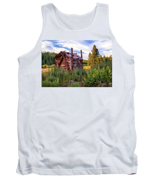 Old Lumber Mill Cabin Tank Top by James Eddy