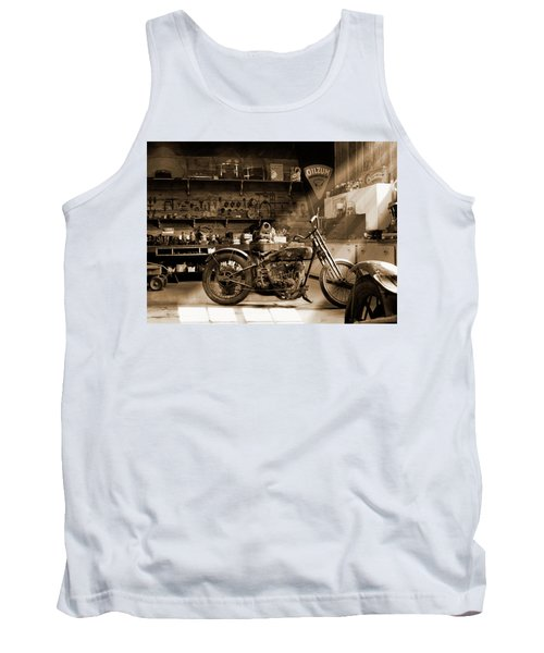 Old Motorcycle Shop Tank Top