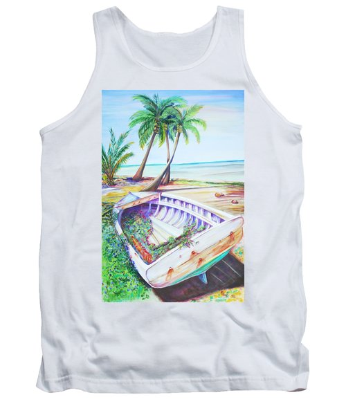 Tank Top featuring the painting Old Paint by Patricia Piffath