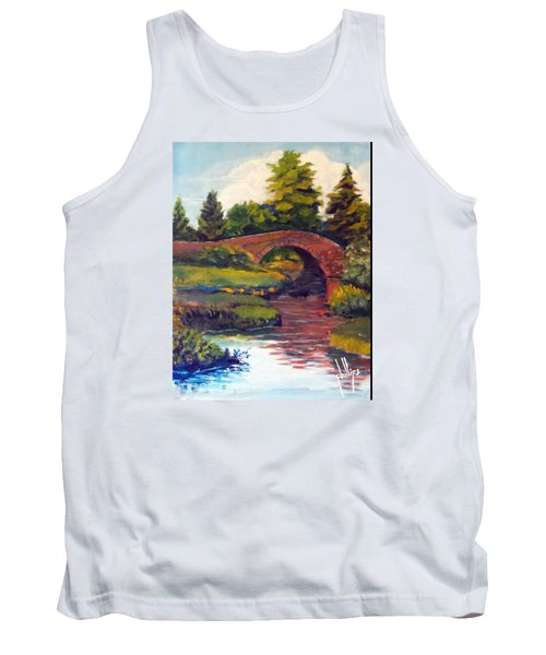 Old Red Stone Bridge Tank Top