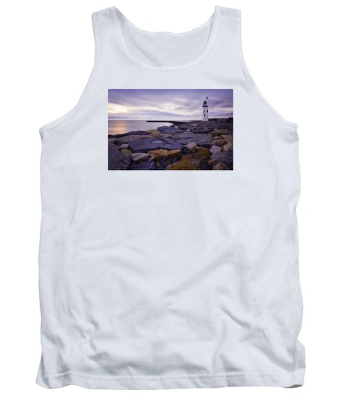 Old Scituate Light At Sunrise Tank Top by Betty Denise