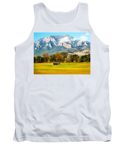 old shed against Flatirons Tank Top