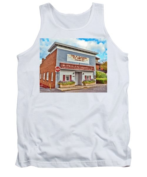 Old Town Hall Blacksburg Virginia Est 1798 Tank Top by Kerri Farley