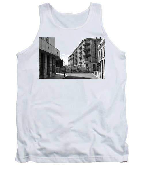 Old Town Neighborhood In The Black And White Of Blight Tank Top