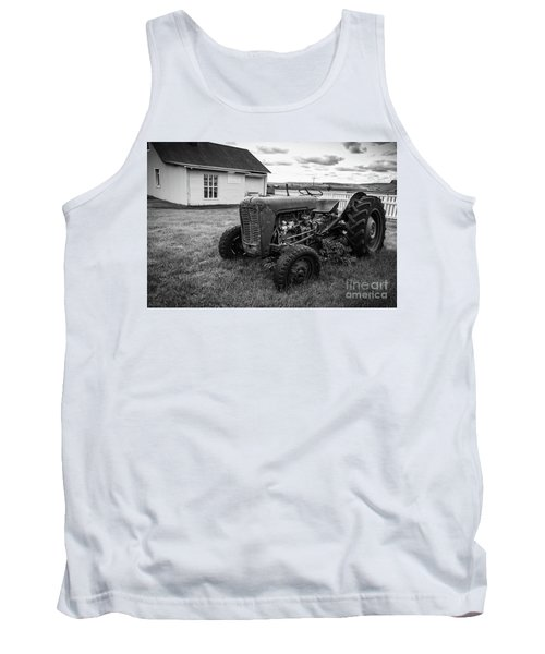 Tank Top featuring the photograph Old Vintage Tractor Iceland by Edward Fielding