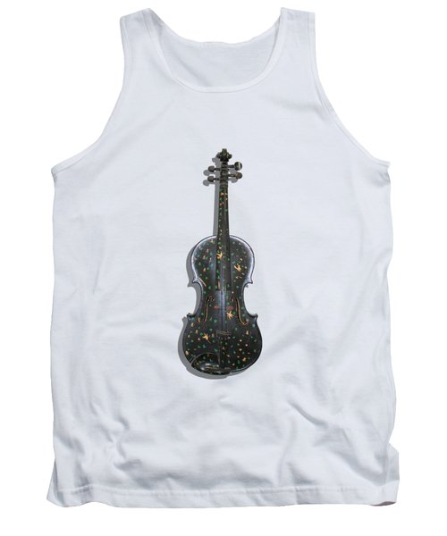 Old Violin With Painted Symbols Tank Top