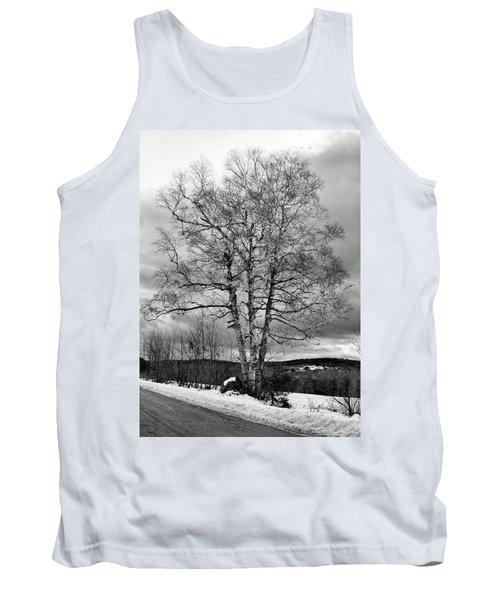 Old White Birch Tank Top by Betty Pauwels