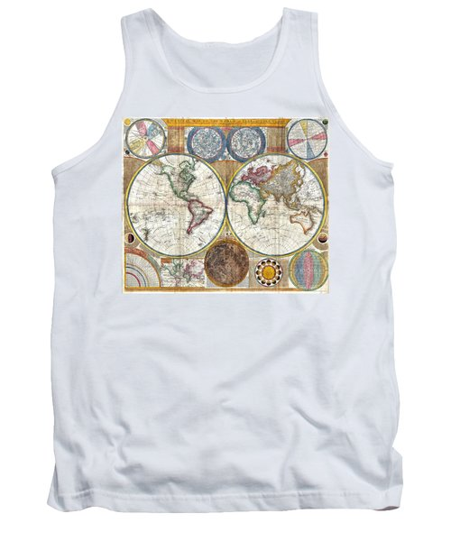 Old World Map Print From 1794 Tank Top