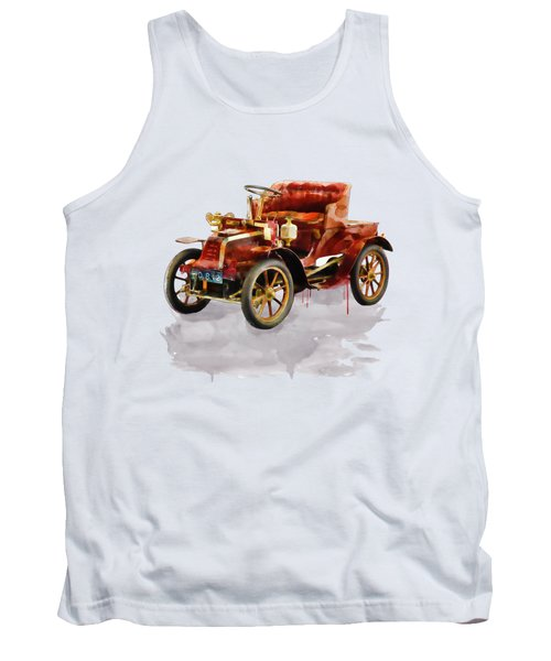 Oldtimer Car Watercolor Tank Top