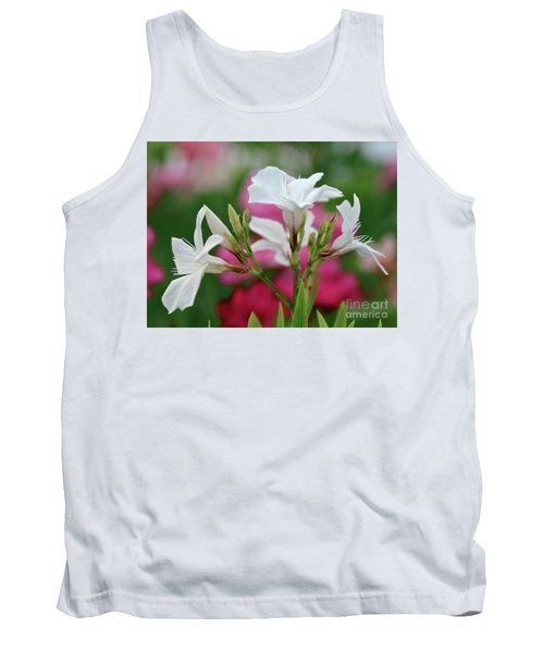Tank Top featuring the photograph Oleander Casablanca 1 by Wilhelm Hufnagl