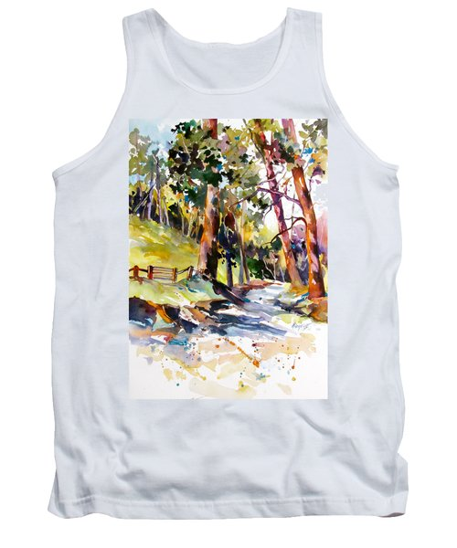 Tank Top featuring the painting Olinda Trees Maui 2 by Rae Andrews