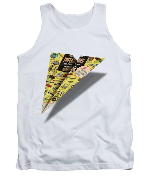 Olympic Sales Club Comic Book Ad Paper Airplane Tank Top