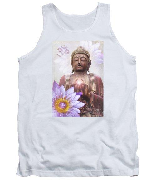 Om Mani Padme Hum - Buddha Lotus Tank Top by Sharon Mau