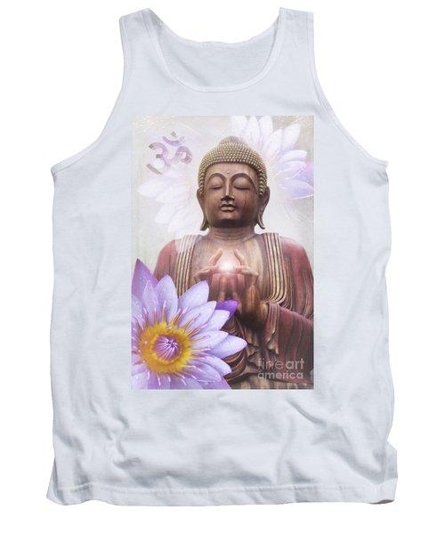 Om Mani Padme Hum - Buddha Lotus Tank Top