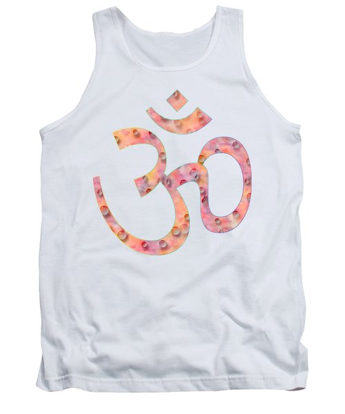 Om Symbol Digital Painting Tank Top by Georgeta Blanaru