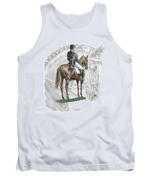 On Centerline - Dressage Horse Print Color Tinted Tank Top