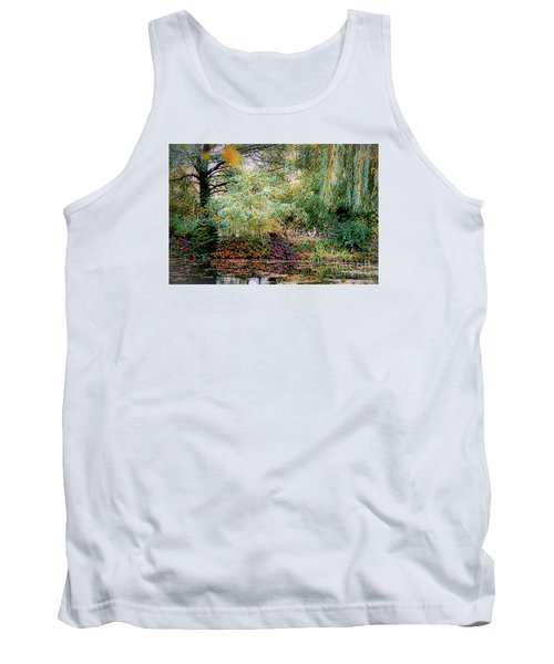 Reflection On, Oscar - Claude Monet's Garden Pond Tank Top