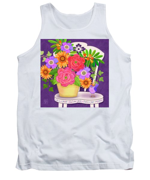 On The Bright Side - Flowers Of Faith Tank Top