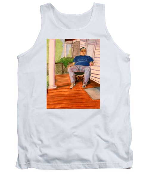 On The Porch With Uncle Pervy Tank Top by Jean Haynes