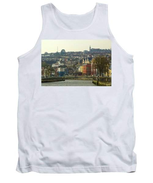 Tank Top featuring the photograph On The River Lee, Cork Ireland by Marie Leslie
