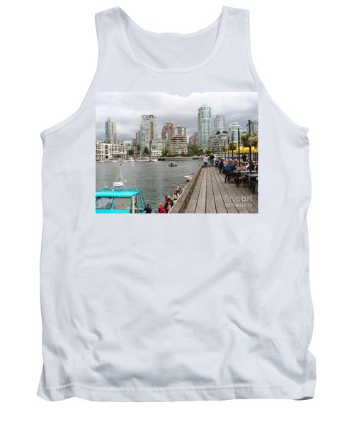 On The Water At False Creek Vancouver Tank Top by Rod Jellison