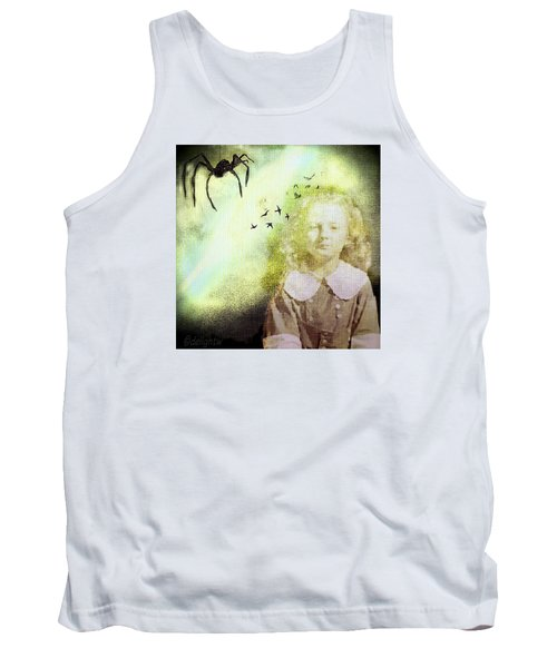 Tank Top featuring the digital art Once There Was A Spider by Delight Worthyn