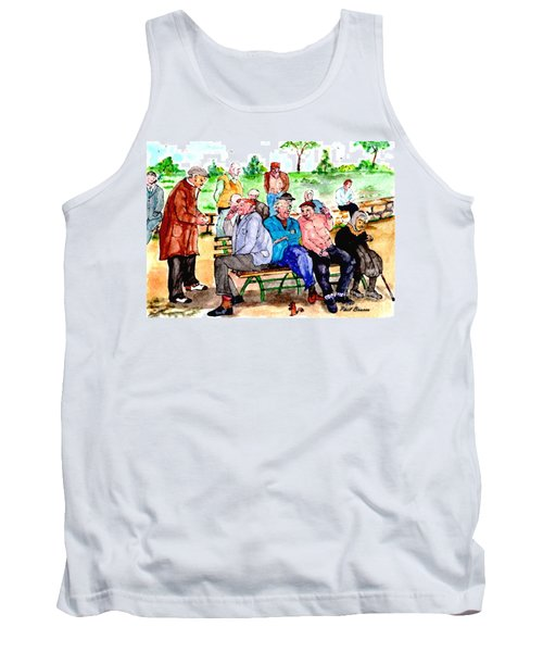 Once Upon A Park Bench Tank Top
