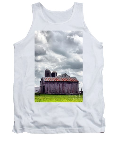 Tank Top featuring the photograph One Fine Cloudy Day  by Polly Peacock