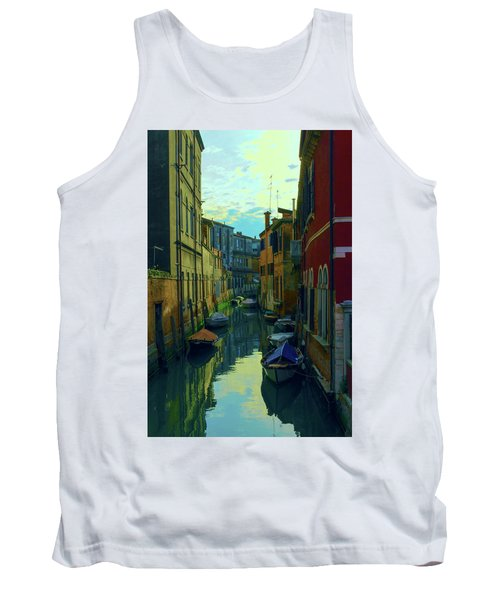 one of the many Venetian canals at the end of a Sunny summer day Tank Top