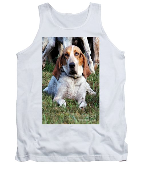 Tank Top featuring the photograph One Tired Hound by Polly Peacock