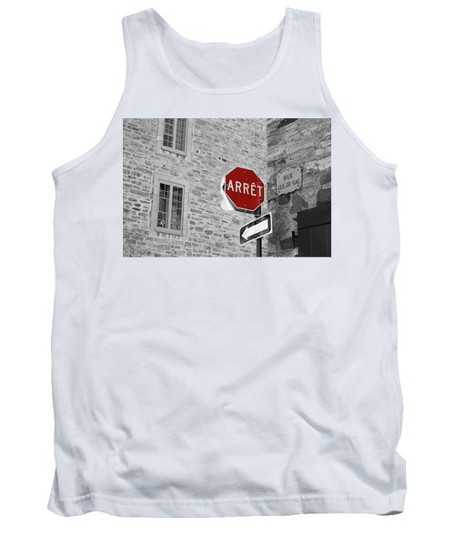 Optical Illusion, Quebec City Tank Top by Brooke T Ryan