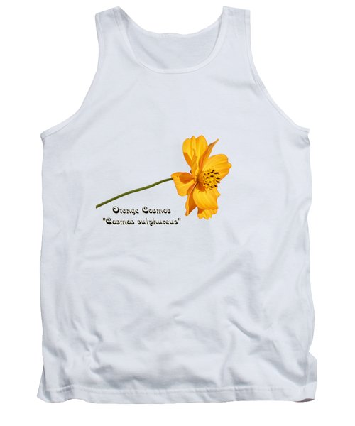 Orange Cosmos Isolated 2018-1 Tank Top