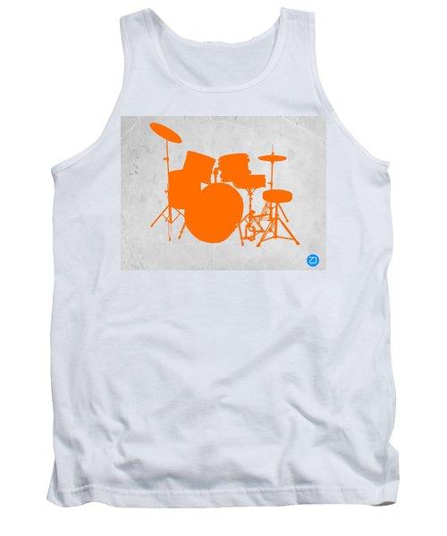 Orange Drum Set Tank Top