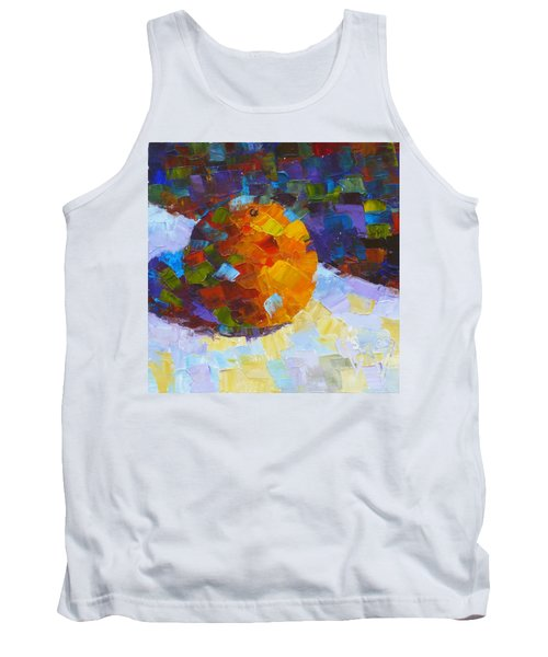 Orange Mosaic #3 Tank Top