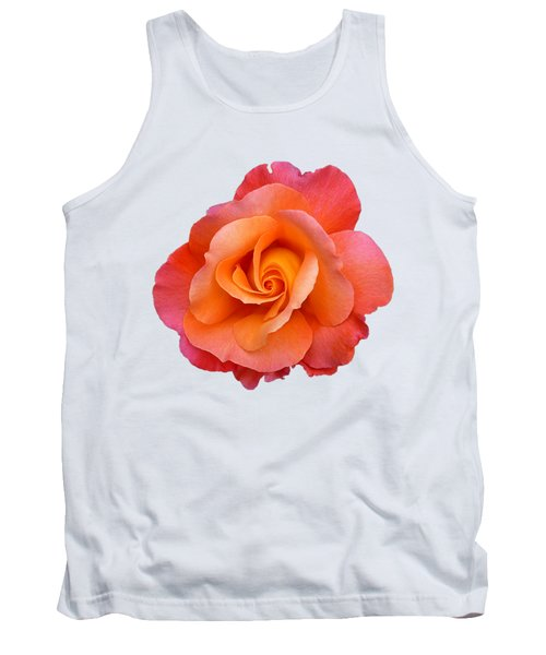 Orange Rosebud Highlight Tank Top
