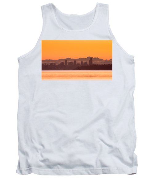 Seattle Skyline In Orange Tank Top