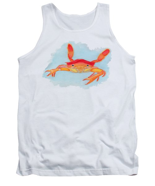 Orange Swimmer Crab Tank Top