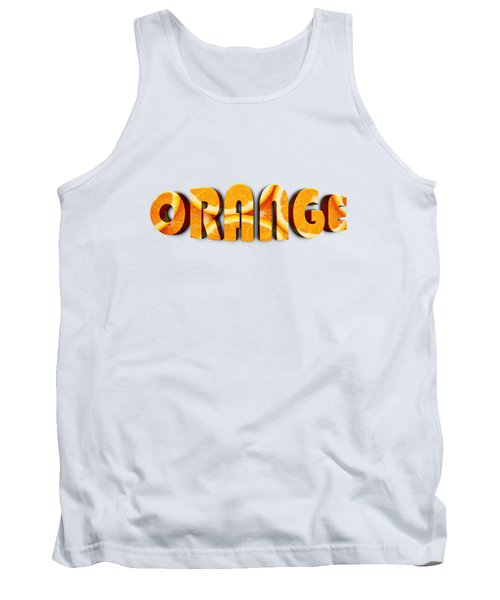 Orange Text Tank Top