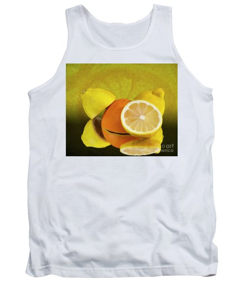 Oranges And Lemons Tank Top by Shirley Mangini